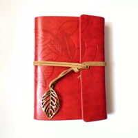 Zápisník Leaf červený