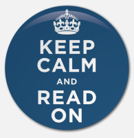 Placka Keep Calm and Read On