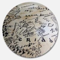 Placka Mapa Kraje