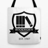 Taška Bookworm University bílá